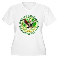 3-savetherainforestlast Plus Size T-Shirt