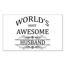 World's Most Awesome Husband Decal