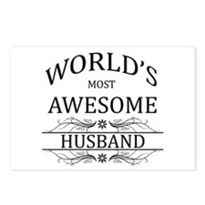 World's Most Awesome Husband Postcards (Package of