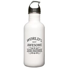 World's Most Awesome Godfather Water Bottle