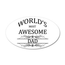 World's Most Awesome Dad Wall Decal