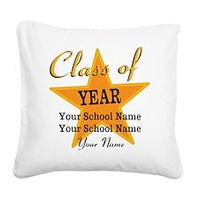 Custom Graduation Square Canvas Pillow