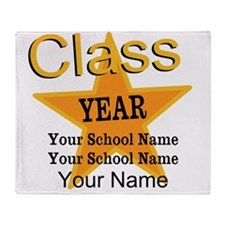 Custom Graduation Throw Blanket