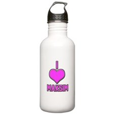 I Heart Maksim (pink) Water Bottle
