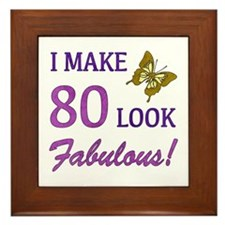 I Make 80 Look Fabulous! Framed Tile