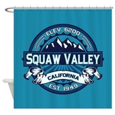Squaw Valley Ice Shower Curtain
