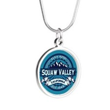 Squaw Valley Ice Silver Round Necklace