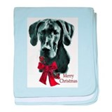 Great Dane Christmas baby blanket