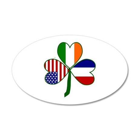 Shamrock of France 20x12 Oval Wall Decal
