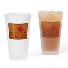 Proud to be Canadian Drinking Glass
