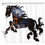 Cosmic Horse Shower Curtain