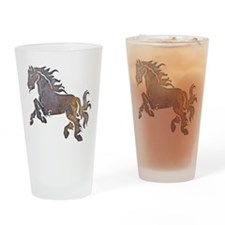 Textured Horse Drinking Glass