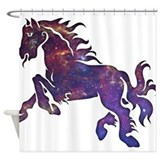 Space Horse Shower Curtain