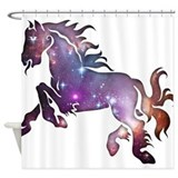 Galaxy Horse Shower Curtain