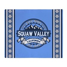 Squaw Valley Blue Throw Blanket