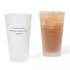 If I Loved You Less Drinking Glass