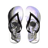 Skull on light background Flip Flops