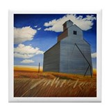 Elevator near Johnston WA. Tile Coaster