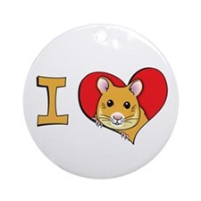 I heart hamsters Ornament (Round)