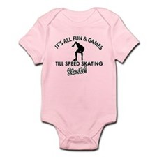 Speed Skating enthusiast designs Infant Bodysuit