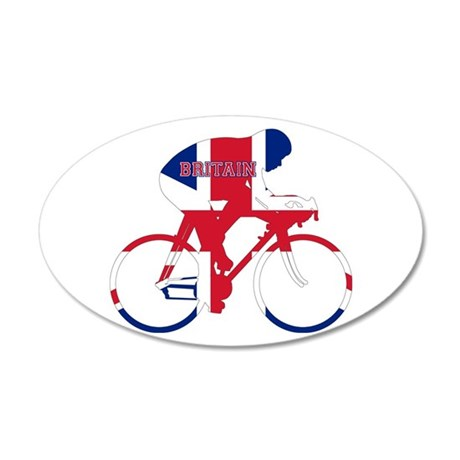Britain Cycling Wall Decal
