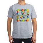 Square Autism Puzzle Ribbon Men's Fitted T-Shirt (