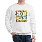 Square Autism Puzzle Ribbon Sweatshirt