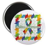Square Autism Puzzle Ribbon 2.25