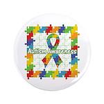 Square Autism Puzzle Ribbon 3.5