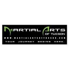 Martial Arts of Tucson : Bumper sticker (black)