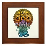 Ganesha Diamond Realm Framed Tile