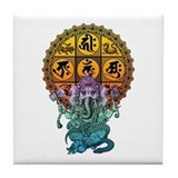 Ganesha Diamond Realm Tile Coaster