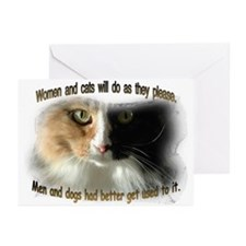 Women and Cats Greeting Cards (Pk of 10)