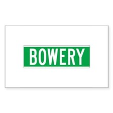 Bowery, New York - USA Rectangle Decal