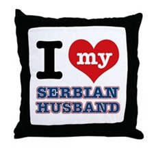I love my Serbian Husband Throw Pillow