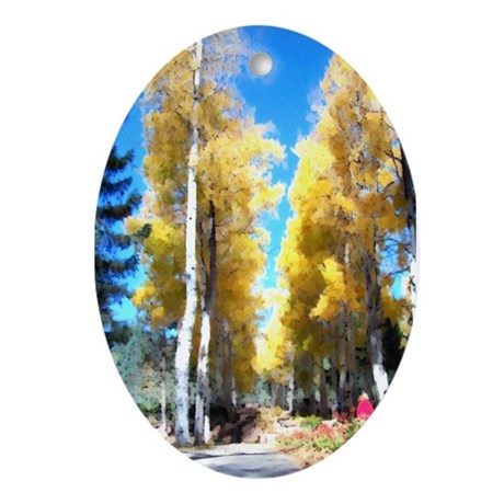Aspen Trail Oval Ornament