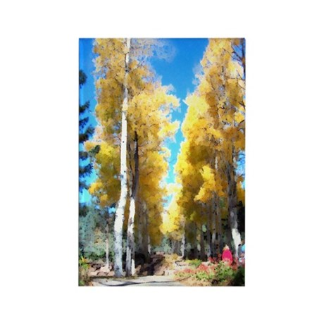 Aspen Trail Rectangle Magnet