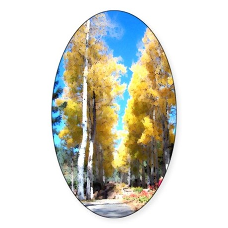 Aspen Trail Oval Sticker