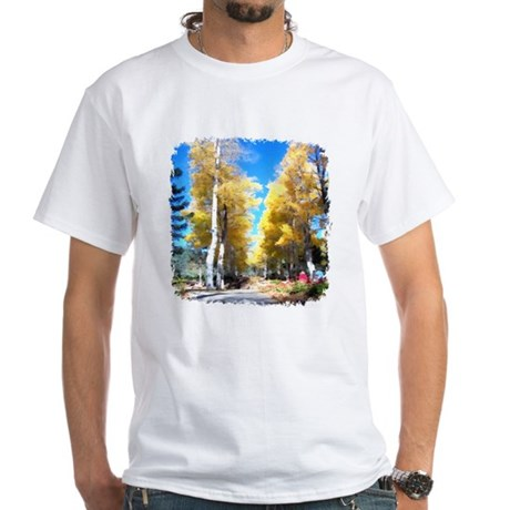 Aspen Trail White T-Shirt