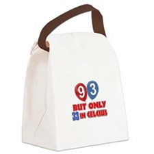 93 year old designs Canvas Lunch Bag
