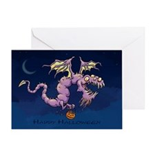 Halloween Greeting Card With Trick Or Treat Dragon