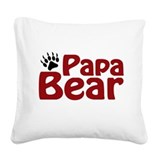 papa bear.png Square Canvas Pillow