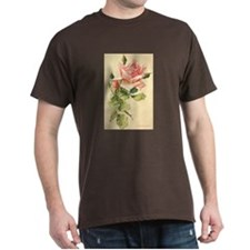 Pink Rose Victorian Flower Vi T-Shirt