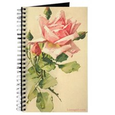 Pink Rose Victorian Flower Vi Journal