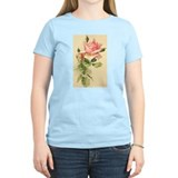 Pink Rose Victorian Flower Vi Women's Pink T-Shirt
