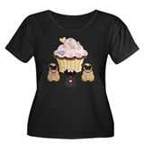 Pug Dog Cupcakes Plus Size T-Shirt