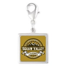 Squaw Valley Wheat Silver Square Charm