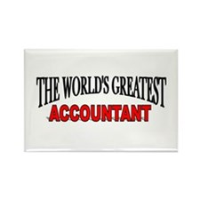 """""""The World's Greatest Accountant"""" Rectangle Magnet"""