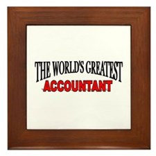 """The World's Greatest Accountant"" Framed Tile"