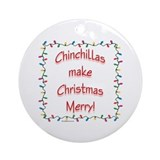 Chinchilla Merry Ornament (Round)